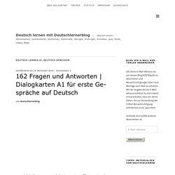 Dialogkarten A1 für Gespräche auf Deutsch