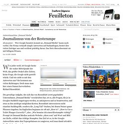 "Antwortmaschine ""Demand Media"": Journalismus v"