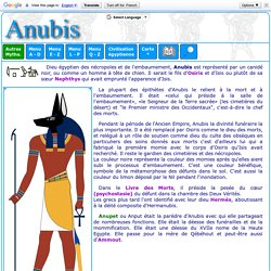 Mythologie égyptienne: Anubis