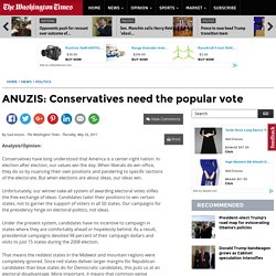 ANUZIS: Conservatives need the popular vote