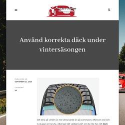 Använd korrekta däck under vintersäsongen - Cox Cars Online