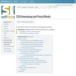 CSS/Anwendung und Praxis/Menüs – SELFHTML-Wiki