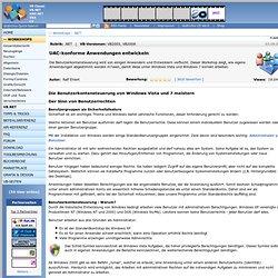 Workshops · UAC-konforme Anwendungen entwickeln