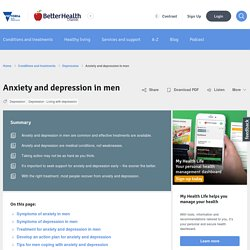 Anxiety and depression in men