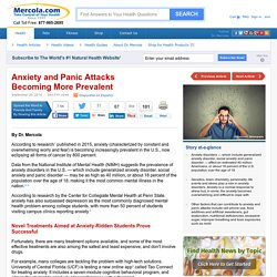 Anxiety and Panic Attacks Becoming More Prevalent in the US