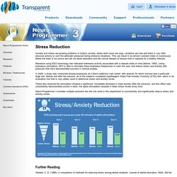 Anxiety / Stress Relief and Relaxation Using Neuro-Programmer