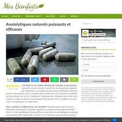 15 anxiolytiques naturels efficaces contre l'anxiété