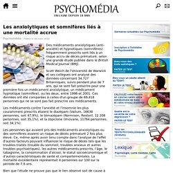 Les anxiolytiques et somnifères liés à une mortalité accrue (nouvelle grande étude)