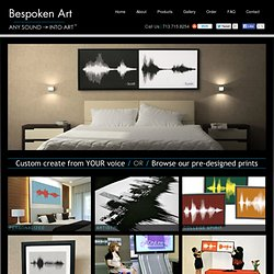 Bespoken Art - Art that Speaks Volumes