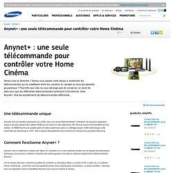 Anynet+ : une seule télécommande pour contrôler votre Home Cinéma