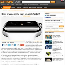 Does anyone really want an Apple Watch?