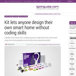 Kit lets anyone design their own smart home without coding skills