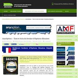 AnyOption - Test et Avis du broker d'Options Binaires