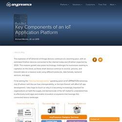 Key Components of an IoT Application Platform