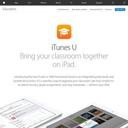 iTunes U - A wealth of knowledge from top institutions.