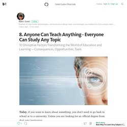 8. Anyone Can Teach Anything — Everyone Can Study Any Topic — Content Curation Official Guide
