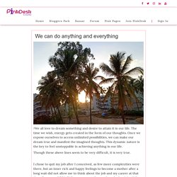 We can do anything and everything - Pinkdesk.org