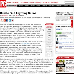 How to Find Anything Online - 64 Tools and Tips to Search Smarter