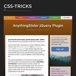AnythingSlider jQuery Plugin