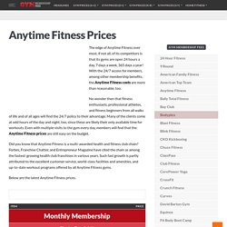 Anytime Fitness Prices & Latest Membership Cost