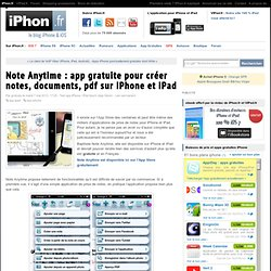 Note Anytime : app gratuite pour créer notes, documents, pdf sur iPhone et iPad