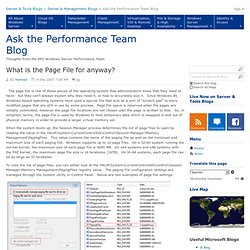 What is the Page File for anyway? - Ask the Performance Team