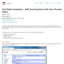 Text Editor Anywhere - Edit Text Anywhere with Your Favorite Editor