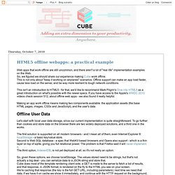 Cube Anywhere - Blog: HTML5 offline webapps: a practical example