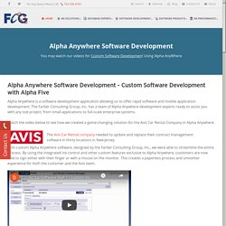 Alpha Anywhere Development Company NJ