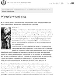 Women's role and place