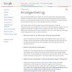Anzeigenbetrug – Gut zu wissen – Google