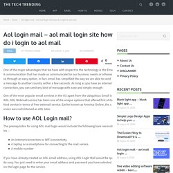 Aol login mail - aol mail login site how do i login to aol mail