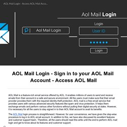 Create and login to your AOL Mail Account