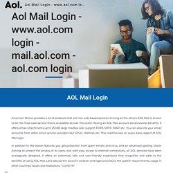 Aol Mail Login - www.aol.com login - mail.aol.com - aol.com login