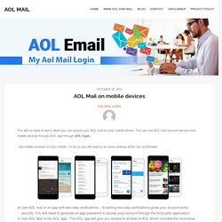AOL Mail on mobile devices AOL login