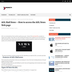 AOL Mail News – How to access the AOL News Web page