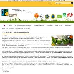 INAO 15/02/17 L'AOP pour la Lucques du Languedoc