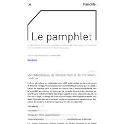 août 2016 - Le Pamphlet