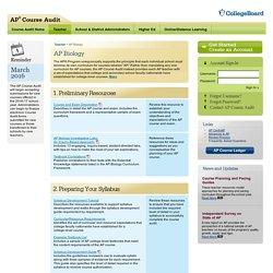 AP Course Audit - Biology