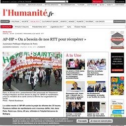 AP-HP « On a besoin de nos RTT pour récupérer