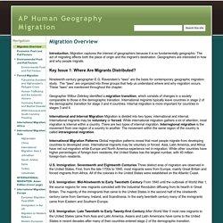 AP Human Geography Migration