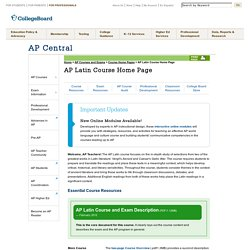 AP Latin Course Home Page