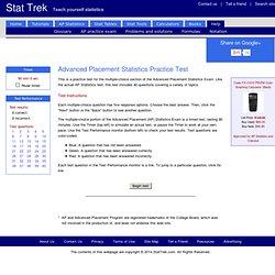 AP Statistics Practice Test