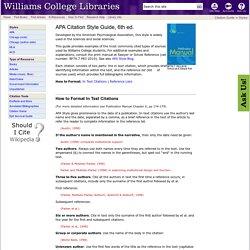 APA Citation Style Guide, 6th ed.