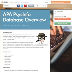 APA PsycInfo Database Overview (Julia)