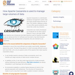 How Apache Cassandra is used to manage large volumes of data