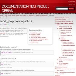 mod_geoip pour Apache 2 - Documentation technique