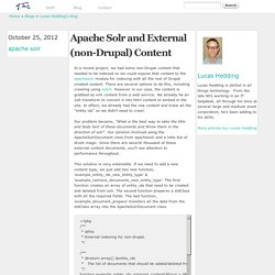 Apache Solr and External (non-Drupal) Content