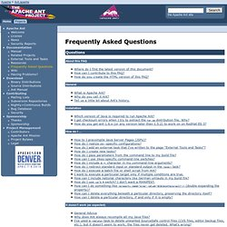 Ant - Frequently Asked Questions