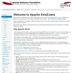 Axis2 - Apache Axis2/Java - Next Generation Web Services